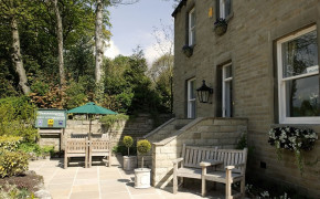 The front terrace makes an ideal place to relax in the summer evenings